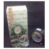 Two wild life clocks