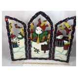 Handpainted Metal Christmas Folding Decoration