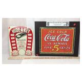 2 Reproduction Lithographed Metal Signs