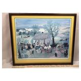 Framed Grandma Moses Print Morning Day on the Farm