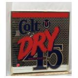 Colt Dry 45 Malt Liquor Mirrored Sign