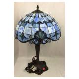 Leaded Stained Glass Electric Lamp
