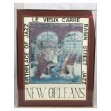 Signed Le Vieux Carre New Orleans Art - Print