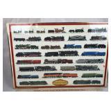 Framed Steam Locomotives Poster