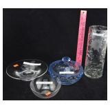 Crystal Vase & Crystal Bowls
