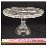 Antique Beatty-Brady Glass Cake Stand