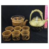 Pottery Teapots and Cups