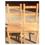 Pair of pine chairs