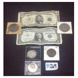 United States coin token and currency lot