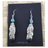 Sterling and Turquoise Native American Dangle