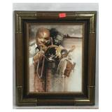 Framed Black Musicians Painting on Canvas