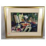 Framed Signed Painting- Print