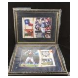 Framed Large Signed Baseball Cards