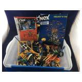 Medium Blue Lidded Bin Of Legos