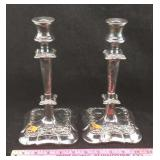 Antique Wilcox Silver Plate Candlesticks