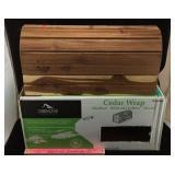 New Gibraltar Cedar Wrap Steel Mailbox