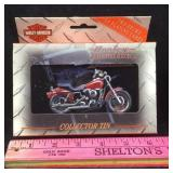 Harley Davidson Collector Tin with Playing Cards