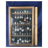 Filled Souvenir Spoon Display Case