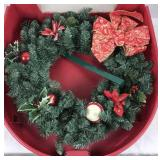 Artificial Christmas Wreath with Case