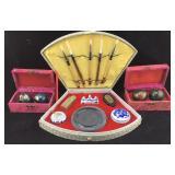 Chinese Baoding Balls & Calligraphy Set
