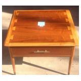 Mid century modern Lane Acclaim one drawer table