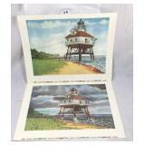Ken Beatty Calvert Co Lighthouse lithographs