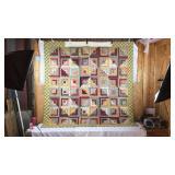 Antique hand stitched patchwork quilt