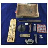 Small Box of Small Stanley Tools and Other Items
