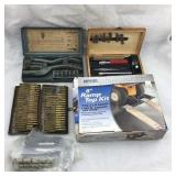 Vintage Leather Punch, X-Acto Knife Set, Plus More