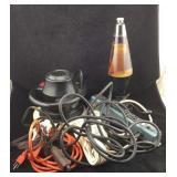 Electric Buffer, Power Strips, Lava Lamp