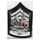 Harley Davidson Mirrored Chevron Sign