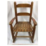 Child's Wood Rocking Chair