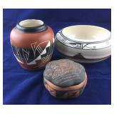 3 Pieces of Indian Style Pottery