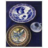 Wedgwood Demitasse Set, Villeroy & Boch Plate