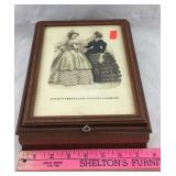 Godey's Unrivalled Colored Fashions Jewelry Box
