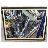 Motorcycle Engine Artwork  Original Oil on Canvas