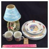 Tienshan Kitten Plates, Resin Lamp