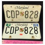 1990s Maryland License Plates
