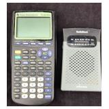 TI-83 Plus Calculator and Handheld Radio