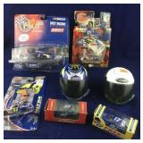 NASCAR Die Cast Cars and Toy Helmets