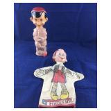 Vintage Walt Disney Pinocchio Soaky and a Hand