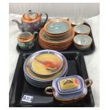 2 Partial sets of Japanese lusterware