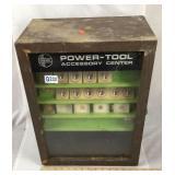 Vintage Dremel power tool accessory center