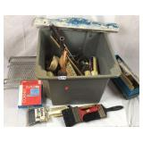 Crate lot of painters equipment