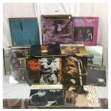 Collection of vintage jazz and blues albums