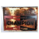 Old Champion Spark Plug Sign from Bee's Auto