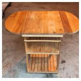 Pine Drop Leaf End Table
