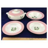 4 Piece Porcelain Dinnerware
