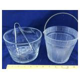 2 Glass Ice Buckets