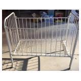 Vintage Wrought Iron Crib